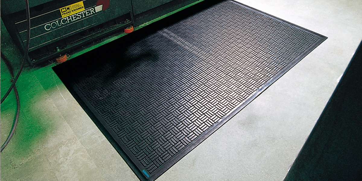 Kleen-Scrape - Kleen-Scrape mat at the work place